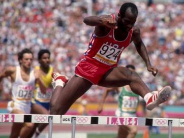 Photo of Olympics – 1984 Los Angeles – ABC Profile – 400m Hurdler USA Edwin Moses
