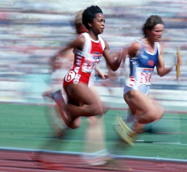 Photo of Olympics – 1984 Los Angeles – ABC Profile – USA Sprinter Evelyn Ashford