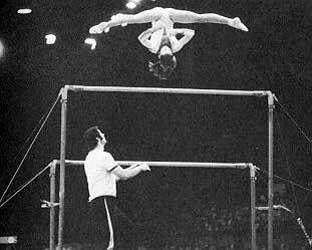 Photo of Olympics – 1984 Los Angeles – ABC Profile – ROM Nadia Comanici & Coach Bela Karolyi