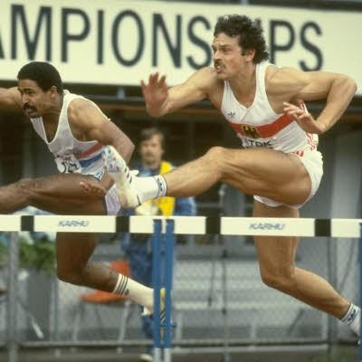 Photo of Olympics – 1984 Los Angeles – ABC Profile – Decathlete FRG Juergen Hingsen