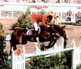 Photo of Olympics – 1984 Los Angeles – Equestrian – Show Jumping – USA Joseph Fargis on Touch of Class