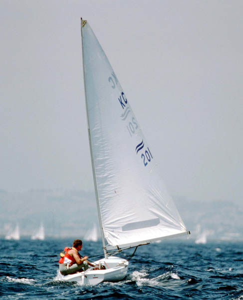 Photo of Olympics – 1984 Los Angeles – Sailing – Yachting USA Robbie Haynes & Olympic Advertisers