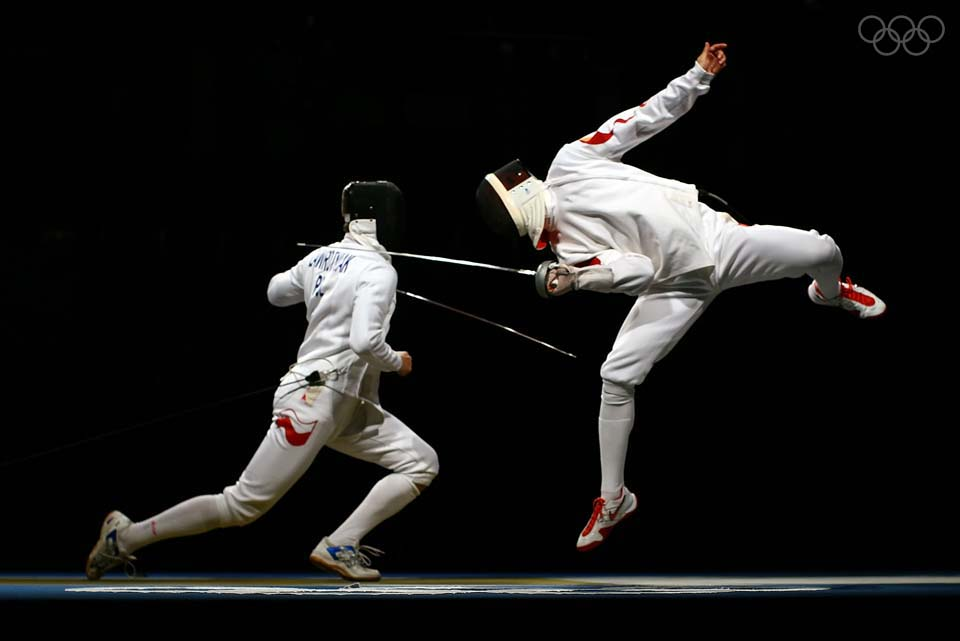 Photo of Olympics – 1984 Los Angeles – Fencing – Mens Team Epee – FRA Philippe Boisse VS FGR Volker Fischer