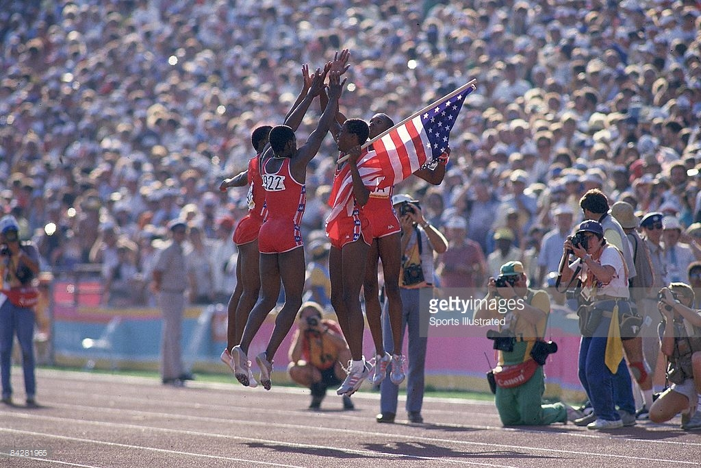 Photo of Olympics – 1984 Los Angeles – Track – Mens 4 x 400m Relay Finals – USA Gold