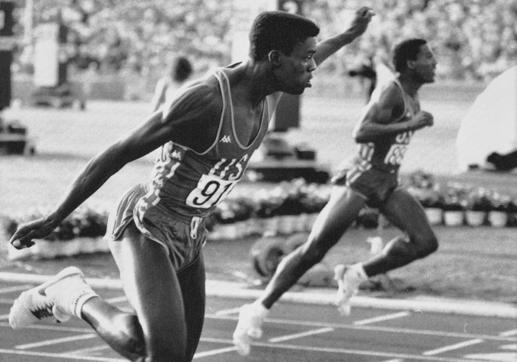 Photo of Olympics – 1984 Los Angeles – Track – Mens 200 m Heats – USA Kirk Baptiste