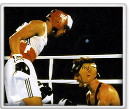 Photo of Olympics – 1984 Los Angeles – Boxing – Light Welterwts – USA Jerry Page VS YUG Mirko Puzovic