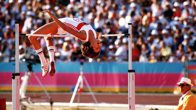 Photo of Olympics – 1984 Los Angeles – Track – Decathlon – High Jump & ABC News Brief