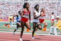 Photo of Olympics – 1984 Los Angeles – Track – Womens 100m – Heat 1 – USA Evelyn Ashford