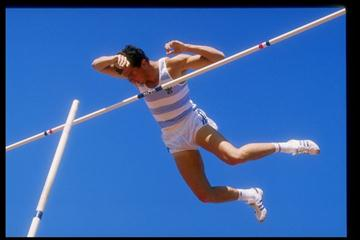 Photo of Olympics – 1984 Los Angeles – Track & Field – Mens Pole Vault USA Earl Bell & FRA Thierry Vigneron