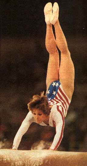 Photo of Olympics – 1984 Los Angeles – Gymnastics – Womens Vault Finals – USA Mary Lou Retton – Perfect 10