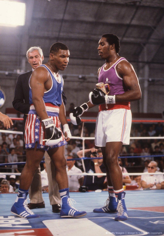Photo of Olympics – 1984 Los Angeles – Boxing – Heavywts – USA Henry Tillman VS TON Tevita Taufouu