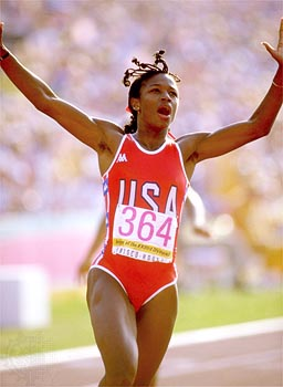 Photo of Olympics – 1984 Los Angeles – Track – Womens 200  m – 2nd Rnd – Valerie Brisco-Hooks