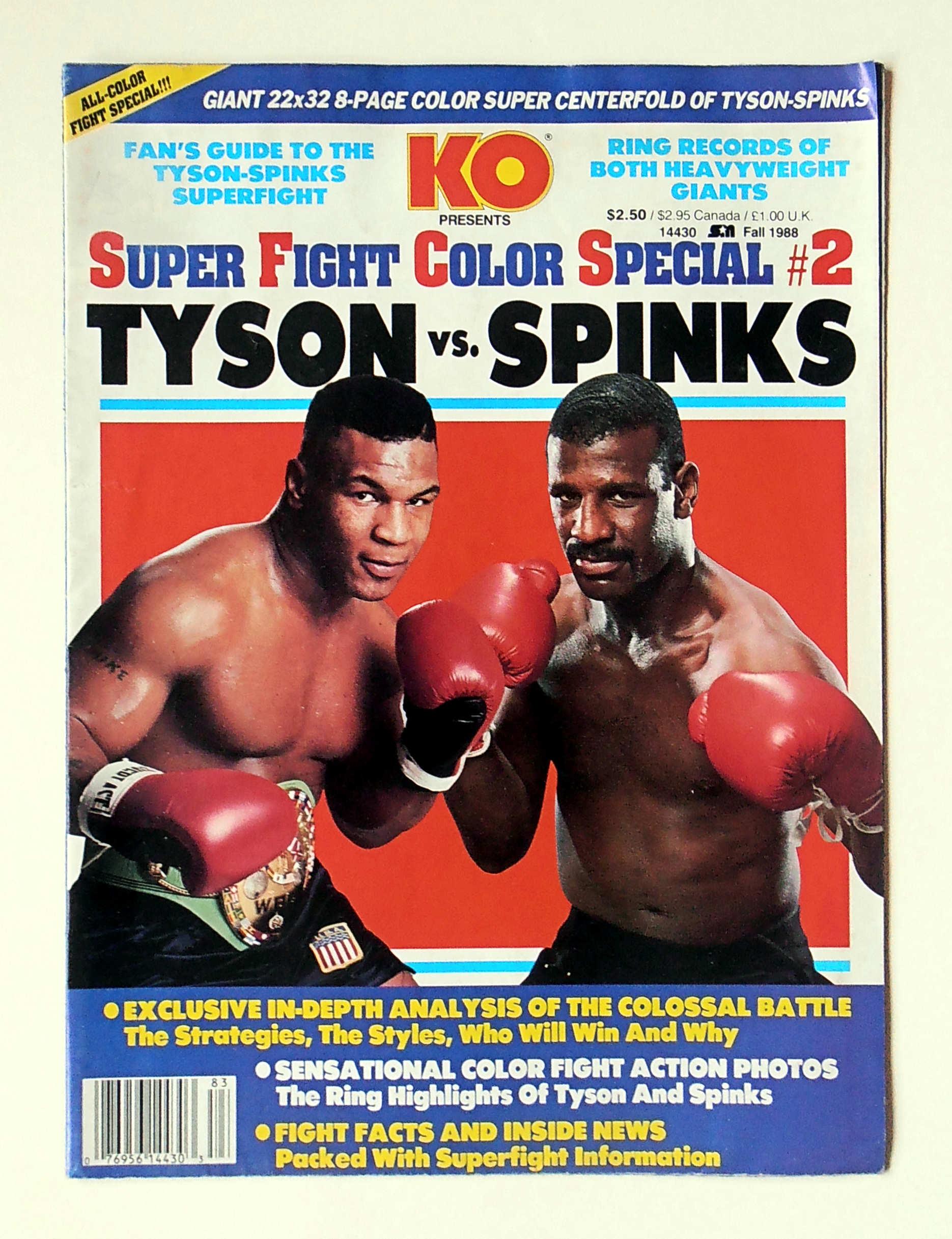 Photo of Boxing – Heavyweight Title – WBC WBA IBF Champ Mike Tyson VS Lineal Champ Michael Spinks