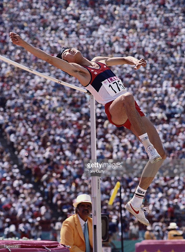 Photo of Olympics – 1984 Los Angeles – Track & Field – Mens High Jump Finals – USA Doug Nordquist