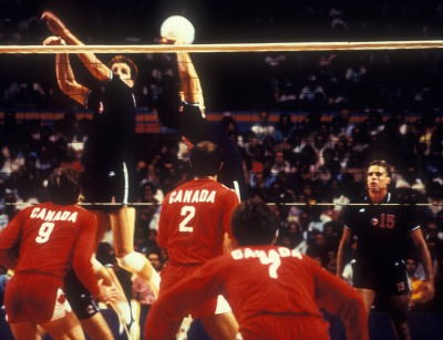 Photo of Olympics – 1984 Los Angeles – Volleyball – Men's Finals – USA VS Brazil – Game 3
