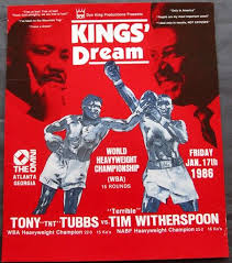 Photo of Boxing – WBA Heavyweight Title – Champ Tony Tubbs VS Tim Witherspoon