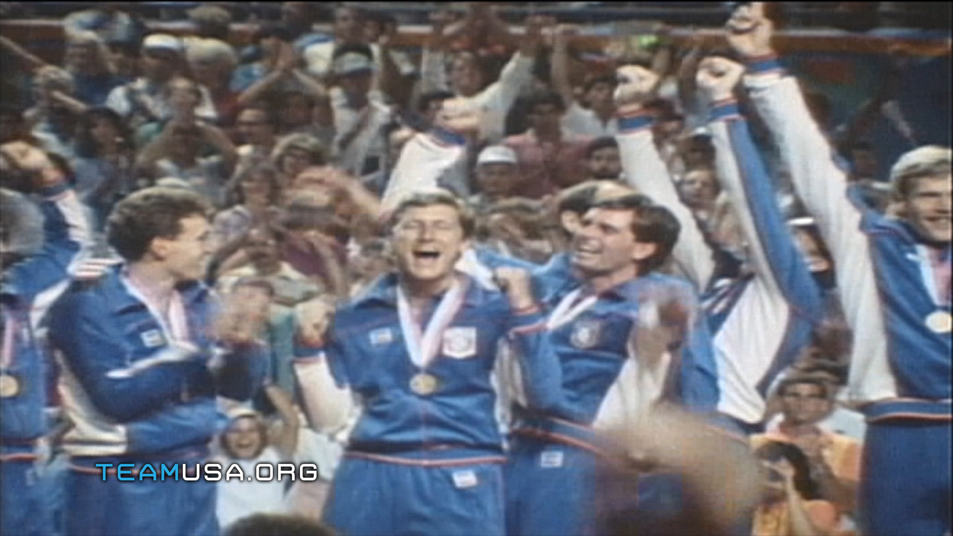 Photo of Olympics – 1984 Los Angeles – Volleyball – Mens Medal Ceremony USA Gold & Boxing – USA Tyrell Biggs