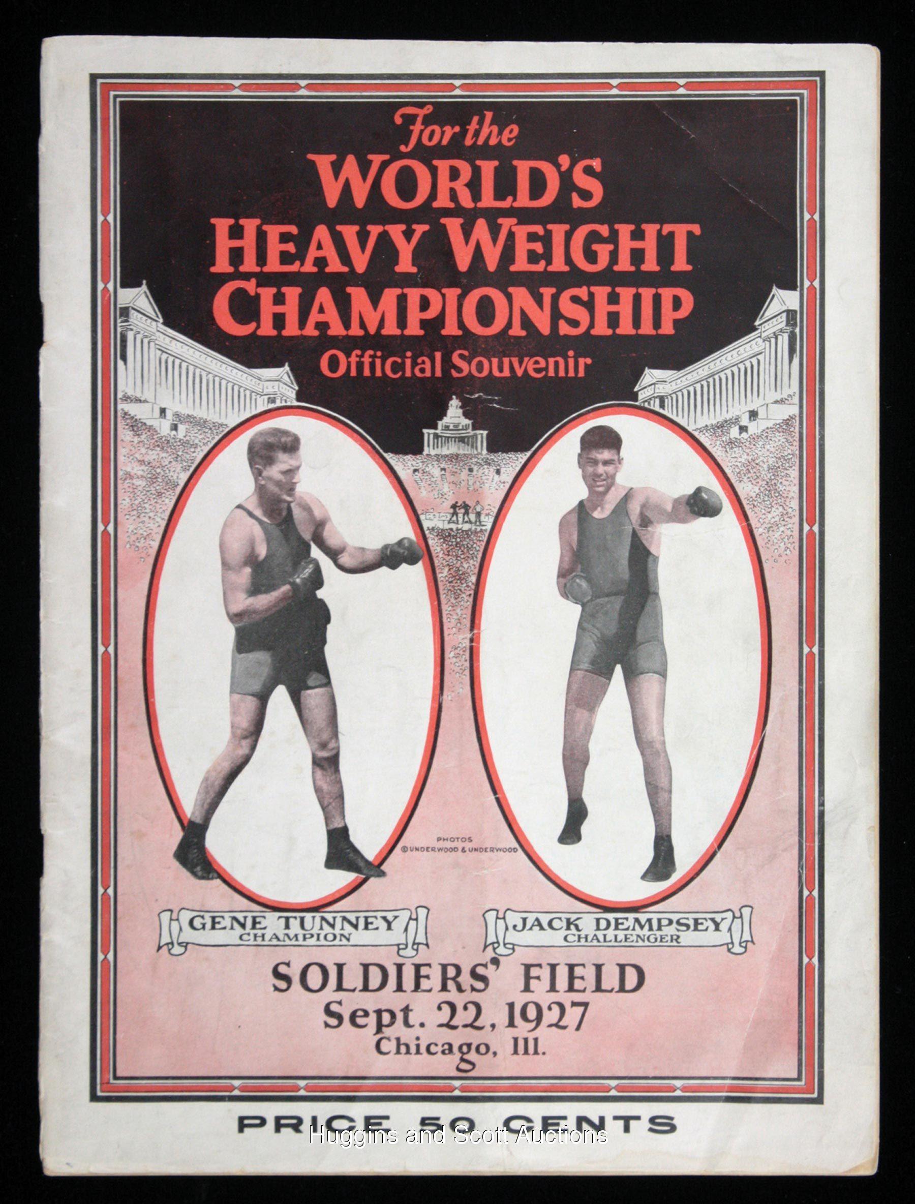 Photo of Boxing – Heavyweight Title – Jack Dempsey VS Gene Tunney & Joe Louis VS Max Schmelling