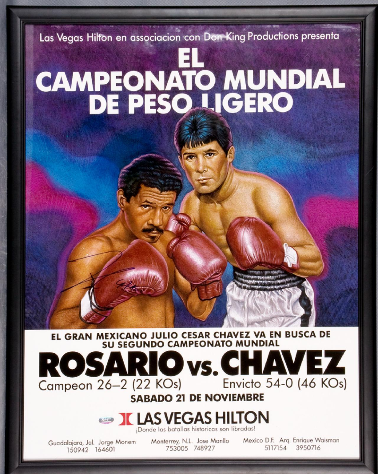 Photo of Boxing – WBA Lightweight Title – Champ Edward Rosario VS Julio Cesar Chavez