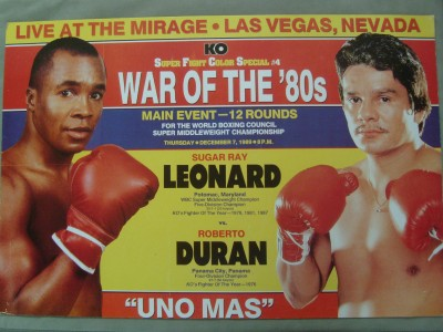 Photo of Boxing – Super Middleweight Title – Sugar Ray Leonard VS Roberto Duran – Fight 3