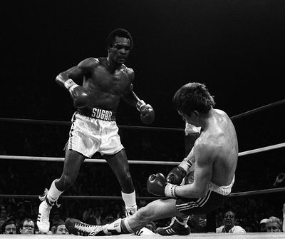 Photo of Boxing – WBA Welterweight Title – Champ Sugar Ray Leonard VS Dave Green