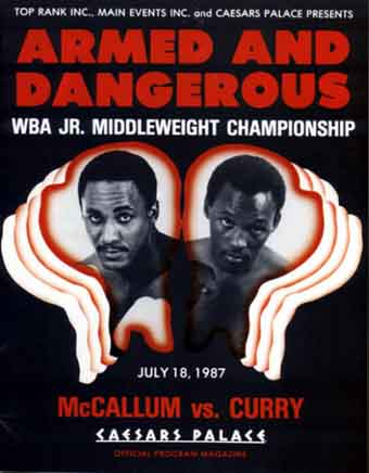 Photo of Boxing – WBA Jr Middleweight Title – Champ Mike McCallum VS Donald Curry