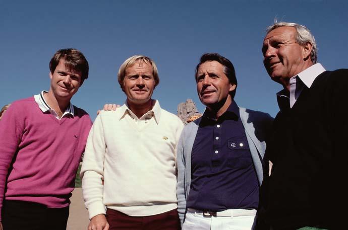 Photo of Golf – 1984 Skins Game – Tom Watson & Gary Player & Jack Nicklaus & Arnold Palmer