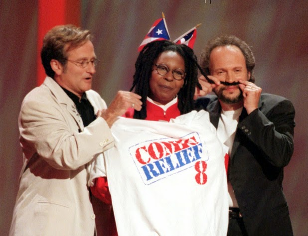 Photo of Comedy – Comic Relief – Harry Anderson & Robin Williams & Billy Crystal & Gilda Radner & Wierd Al