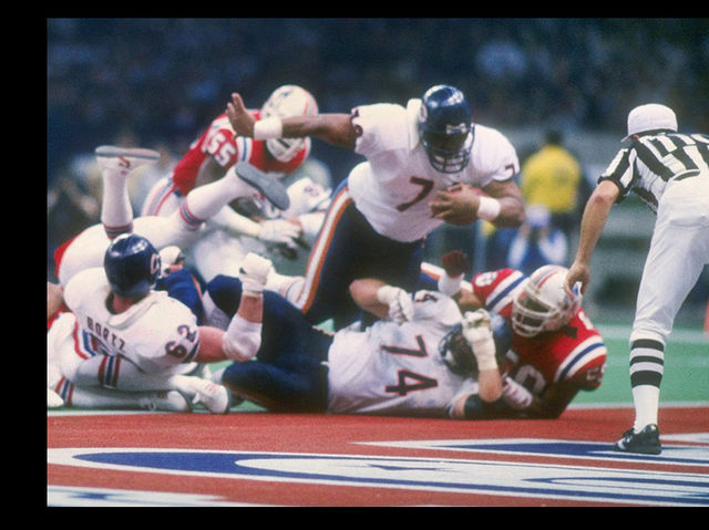 Photo of NFL – 1986 – Super Bowl XX – Louisiana Superdome – Chicago Bears VS New England Patriots