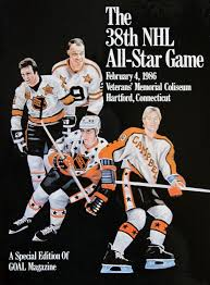 Photo of NHL – 1986 – 38th All Star Game – Hartford, Conneticut – Wales Conference VS Campbell Conference
