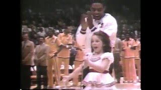 Photo of NBA – Special -NBA Ref Jess Thompson Helps 7 Yr Old Natalie Ross Sing Nathional Anthem