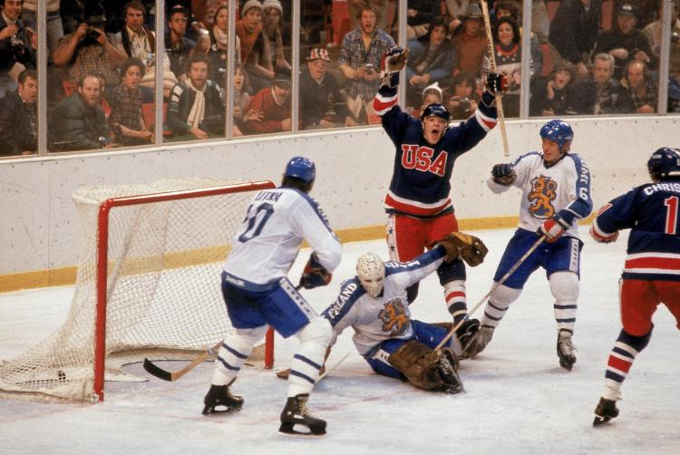 Photo of Olympics – 1980 Lake Placid – Mens Hockey Gold Medal Game – USA VS Finland – With Al Michaels