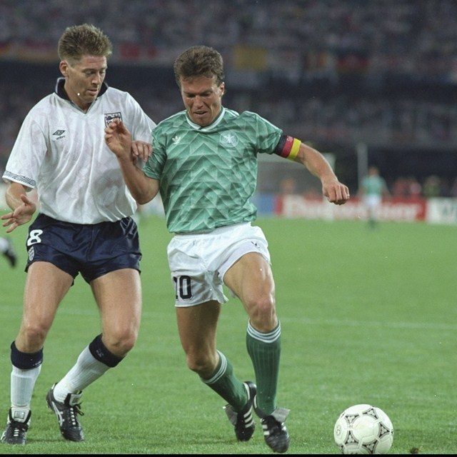 Photo of Soccer – 1990 World Cup – Semi Finals – Germany vs England – 1st Half