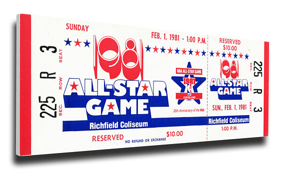 Photo of NBA – 1981 NBA All Star Game – West VS East – 2nd Qtr & 2nd Half