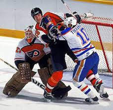 Photo of NHL – 1987 Stanley Cup Finals – Game 4 – Edmonton Oilers VS Philadelphia Flyers – With Al Trautwig