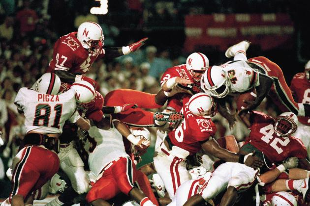 Photo of NCAA Football – 1984 Orange Bowl – # 1 Nebraska Cornhuskers vs # 2 Miami Hurricanes – 4th Qtr