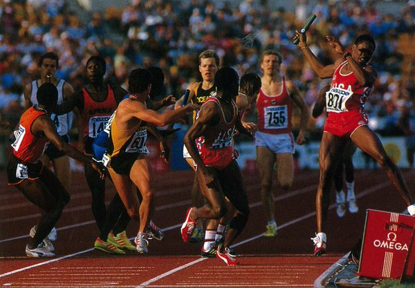 Photo of Track & Field – 1985 – World Championships – Women's 100m & 4 x 400m & 800m – Mens 110m Hurdles
