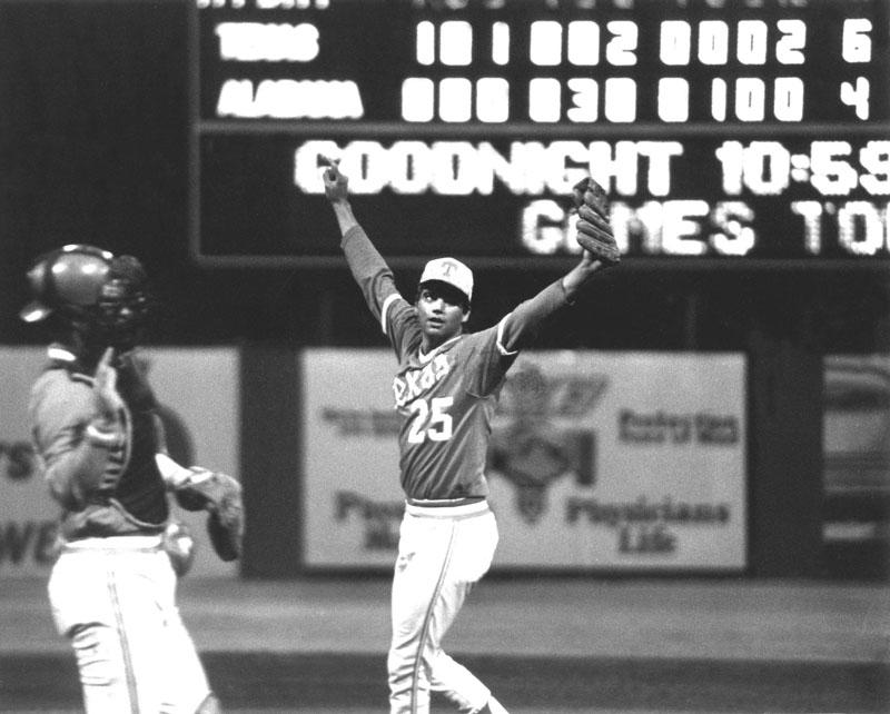 Photo of NCAA Baseball – 1987 – College World Series – Texas Longhorns VS Arkansas Razorbacks – Innings 8 & 9