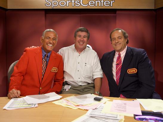 Photo of Special – 1984 – ESPN Sportscenter – With George Grande + Greg Gumbel + Chris Berman