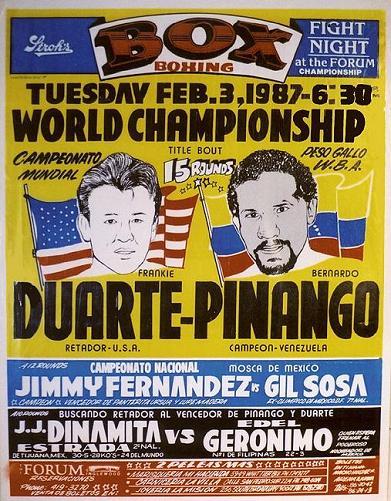 Photo of Boxing – 1987 – 15 Round WBA Bantamweight Title Fight – Frankie Duarte Vs Bernardo Pinango