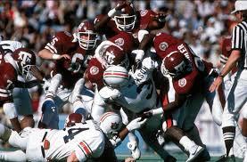 Photo of NCAA Football – 1986 – Cotton Bowl – Auburn Vs Texas A & M – Pregame + 1st Qtr – With Bo Jackson