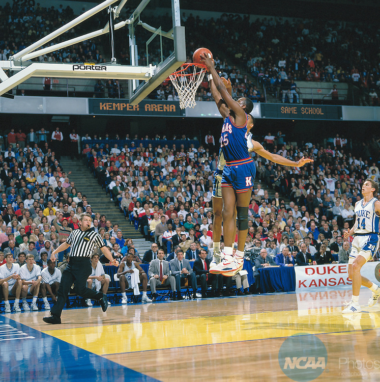 Photo of NCAA Mens Basketball – 1988 – National Semifinal Game – Duke Blue Devils Vs Kansas Jayhawks