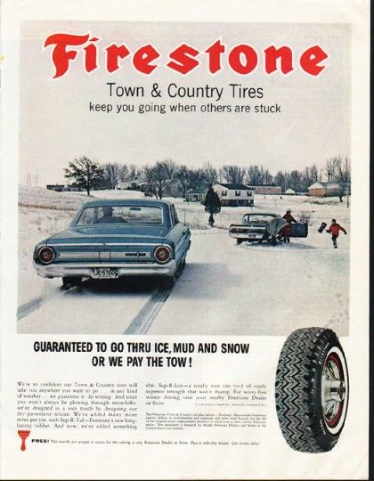 Photo of TV Ads – 1978 – Firestone Tires + Service & All State Insurance