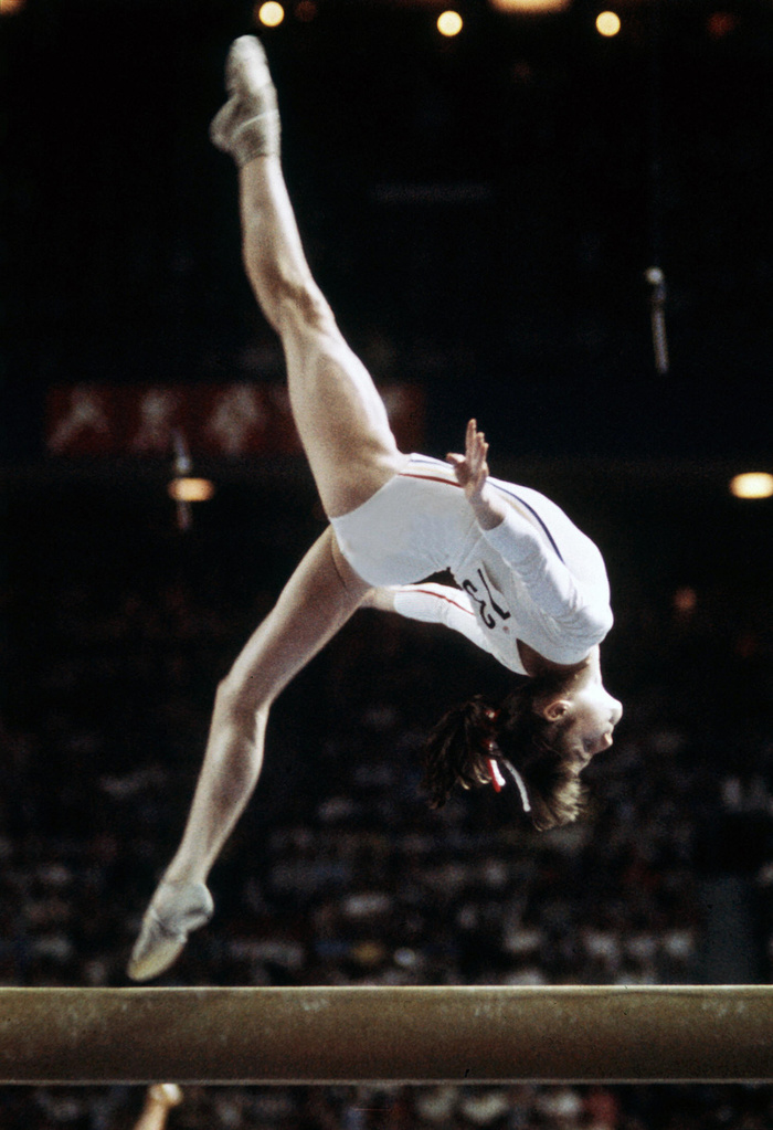 Photo of Gymnastics – 1977 – International Meet – USA Vs Romania – With Kirk Thomas + Nadia Comaneci