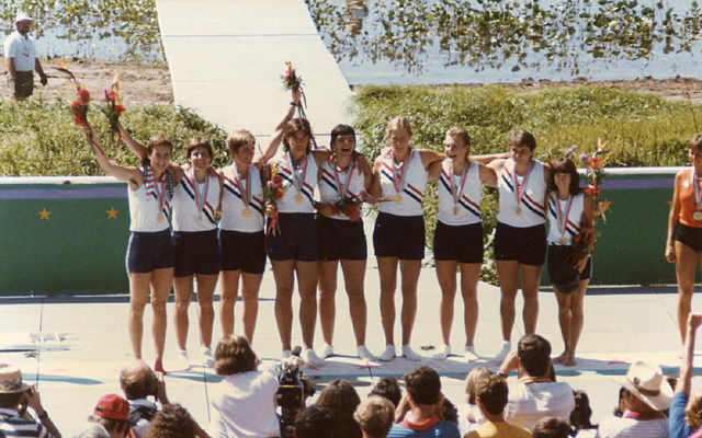Photo of Olympics – 1984 – L A Games – Day 8 – Water Polo + Grecco Wrestling + Team Cycling + Swimming