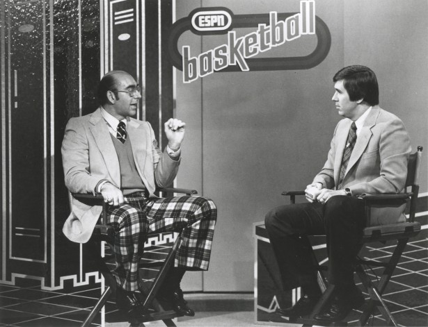 Photo of NCAAM Basketball – 1985 – ESPN Special – Bracketology Regional Break-Downs – Dick Vitale + Bob Ley
