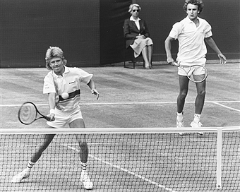 Photo of Tennis – 1986 – Wimbledon – Mens Dbls Finals – Wilander + Nystrom Vs Donnelly + Fleming