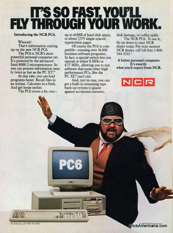 Photo of TV Ads – 1984 – Ken Brett For Lite + Dom Deluise For NCR + Right Guard + Gillette