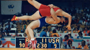 Photo of Olympics – 1984 – L A Games Day 13 – Boxing + Wrestling + Baseball – Womens Volleyball + Basketball