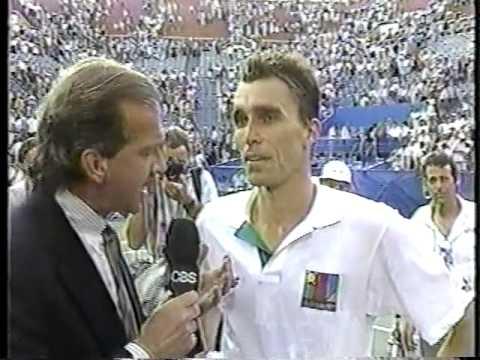 Photo of Tennis – 1983 – US Open Mens Qtr Finals – Ivan Llendl Vs Mats Wilander – 3rd Set